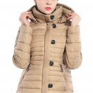 Khaki Core Down Hooded Jacket