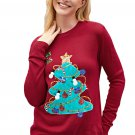 Red Happy Xmas Christmas Tree Sweater