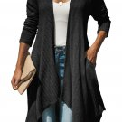 Black Handkerchief Hem Lightweight Cardigan