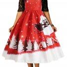 Jingle All The The Way Christmas Print Flared Dress