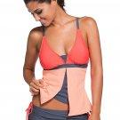 Orange Triangular Bikini Peach Flyaway Tankini Top