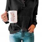 Black Long Sleeves Hooded Pullover Sweatshirt