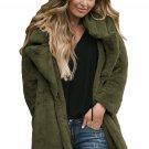 Green Pocketed Faux Fur Longline Coat