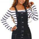 Black Stretch Denim Mini Jumper Dress