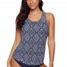 Diamond Print Beach 2pcs Tankini Swimsuit
