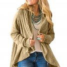 Apricot Velvety Chenille Knitted Cardigan
