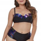Moulded Cups Dotted Plus Size Swimwear