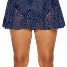 Blue Crochet Lace Skirted Bikini Bottom