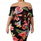 Tropical Print Plus Size Dress