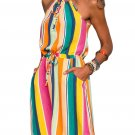 Multicolor Striped Tank Tunic Dress