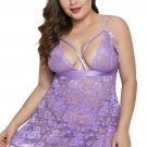 Purple Dreamy Lace Plus Size Babydoll