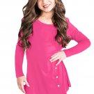 Rose Little Girl Long Sleeve Button Tunic