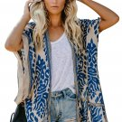 Blue Prowess Pom Pom Kimono