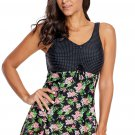 Floral Print Lace Skirted One-piece Swimsuit