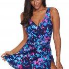 Blue Flower Print Swimdress