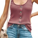 Pink Sexy Single Breasted Sling Vest