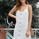 White Buttoned Slip Dress