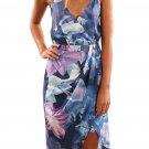 Sky Blue Floral Print Boho Dress