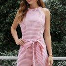 Pink Striped Romper