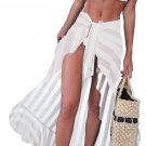 White Sheer Wrap Sarong Maxi Beach Skirt