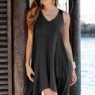 Black Handkerchief Hem Crochet Back Sundress