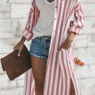Red Turtle Bay Pocketed Duster Cardigan