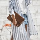 Blue Turtle Bay Pocketed Duster Cardigan