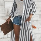 Black Turtle Bay Pocketed Duster Cardigan