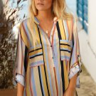Yellow Stripes Printed Dyed Loose Blouse