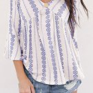 Blue Valley of The Dolls Babydoll Blouse