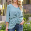 Sky Blue On The Daily Twist Front Top