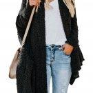 Black Winter Baggy Cardigan Coat