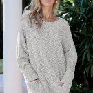 Gray Winter Break Knit Tunic Sweater