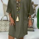 Green Petite Robe Farah