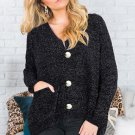 Black Swoon And Snuggles Chenille Shift Sweater