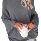 Gray Chillaxin' Dolman Knit Sweater