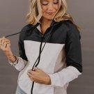 Black Colorblock Jackson Zip Jacket