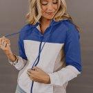 Blue Colorblock Jackson Zip Jacket