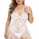 White All Over Lace Chemise with Thong