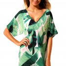Tie The Knot Green Leaves Beach Cover-up