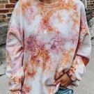 Multicolor Tie-dyed Round Neck Sweatshirt