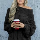 Black Chunky Oversized Pullover Sweater