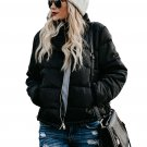 Black Mammoth Pocketed Puffer Jacket