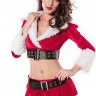 Warm Velvet Holiday Pleasure Costume in Red