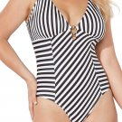 Edge Plunge One Piece Swimsuit