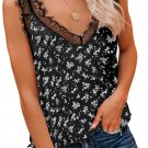 Black Tropical Love Lace Cami Tank