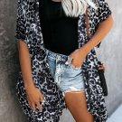 Black Born To Stand Out Leopard Kimono