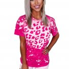 Hot Pink Bleached Leopard Tee