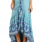 50% Off Blue Gypsy Style Print Sarong Beach Dress