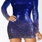 Blue Ombre Sequin Dress